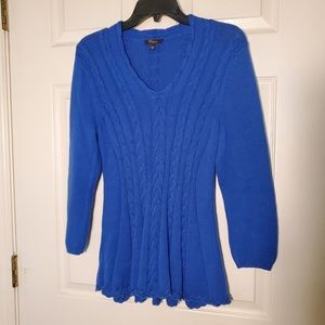 Cupio Blue Cable Knit Sweater